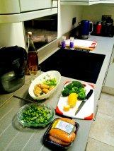 Blat kuchenny z jedzeniem